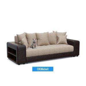 диван прямой Дубай бежевая рогожка