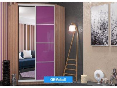 Угловой шкаф-купе Лео purple