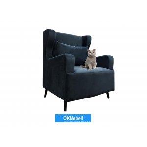 Кресло Лацио синее